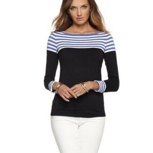 NWOT Lilly Pulitzer Maria Boatneck Stripe Sweater